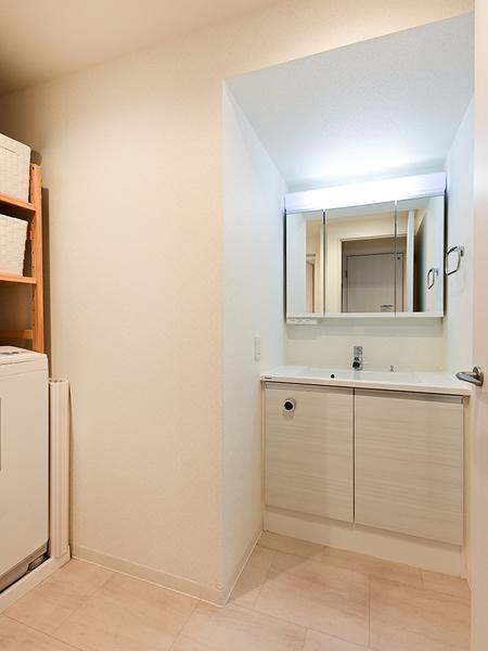 洗面室(背面収納付三面鏡)