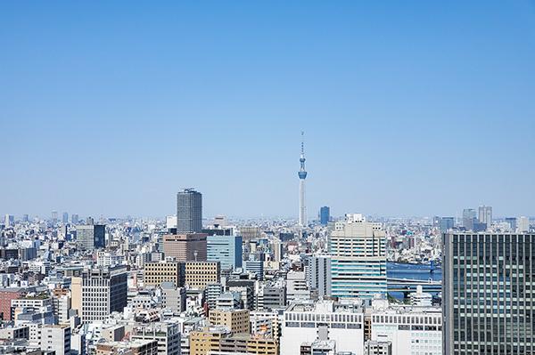 【眺望】バルコニーから北向きの眺望・東京スカイツリーが望めます(天候による)
