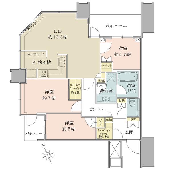 スカイズ タワー&ガーデンの間取図/26F/8,450万円/3LDK+WIC+SIC/80.07 m²