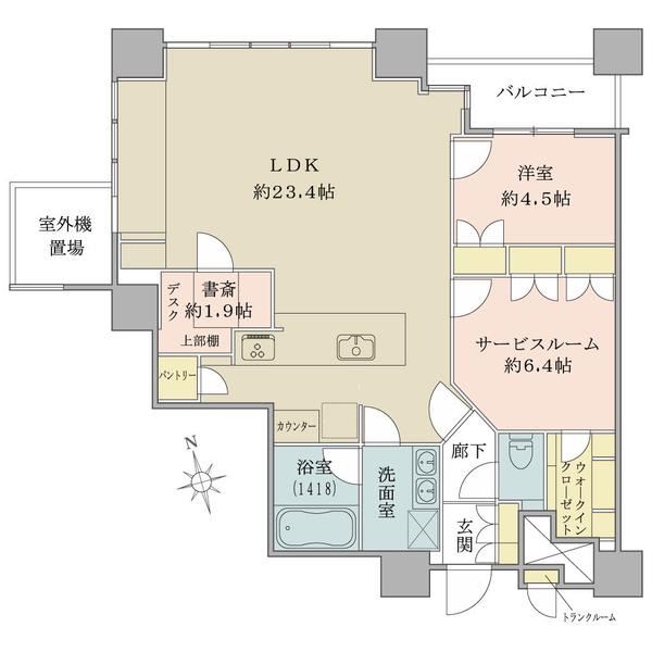 THE TOWERS DAIBA ザ・タワーズ台場 の間取図/26F/9,480万円/1SLDK/79.38 m²
