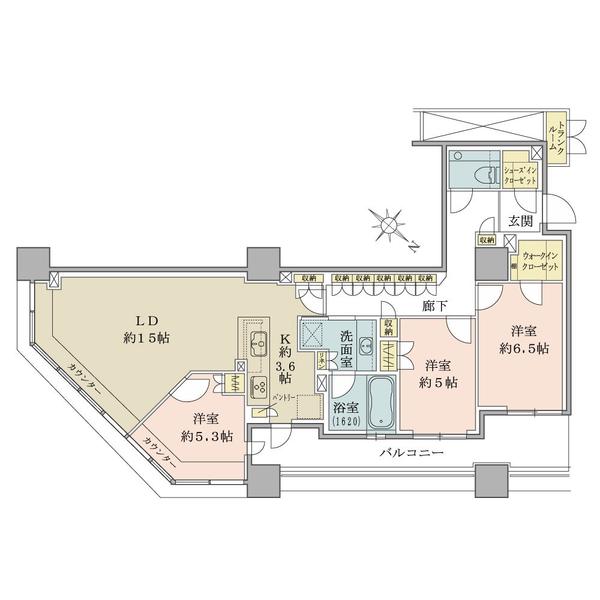 87.99㎡【トランクルーム1.13㎡含む】/ 3LDK+WIC+SIC