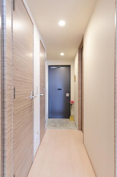 【廊下部分】フラットフロア設計で安心安全に生活できます。