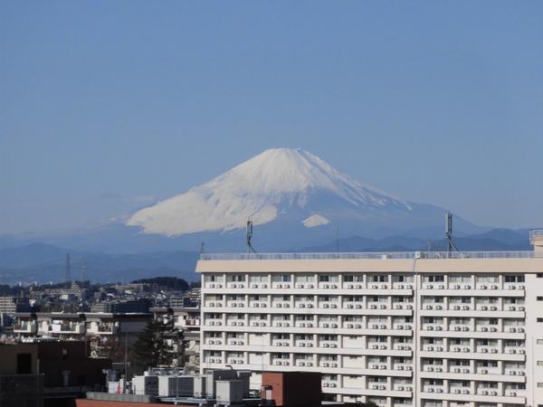 バルコニーからの眺望 美しい富士山