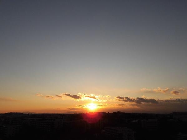 眺望 空気の澄んだ日には富士山が