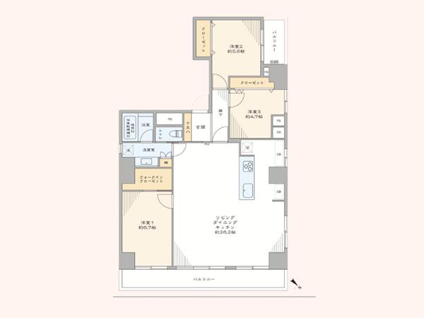 シティハイツ根津の間取図/2F/7,980万円/3LDK/93.49 m²
