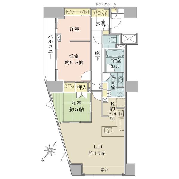 ブリリア駒込六義園の間取図/8F/12,300万円/3LDK+WIC+SIC/81.25 m²