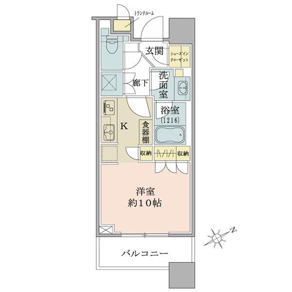 ブリリアタワーズ目黒 サウスレジデンスの間取図/5F/5,650万円/1R+SIC/30.05 m²