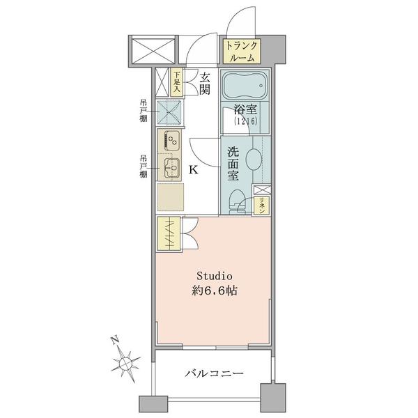 ブリリア恵比寿idの間取図/4F/2,960万円/1R/25.01 m²