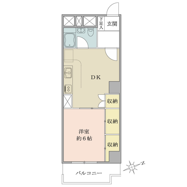 ニューハイツ大森の間取図/3F/1,350万円/1DK/34.92 m²
