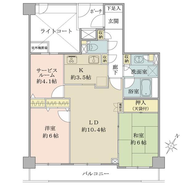 アールヴェール碑文谷の間取図/3F/5,640万円/2SLDK/68.77 m²