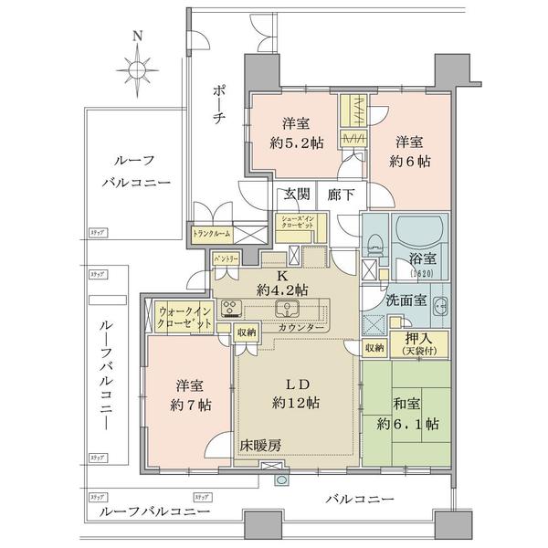Brillia品川中延の間取図/11F/9,980万円/4LDK/92 m²