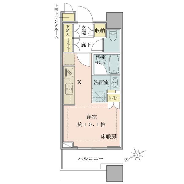 ブリリアタワーズ目黒 サウスレジデンスの間取図/5F/5,880万円/1R/30.05 m²