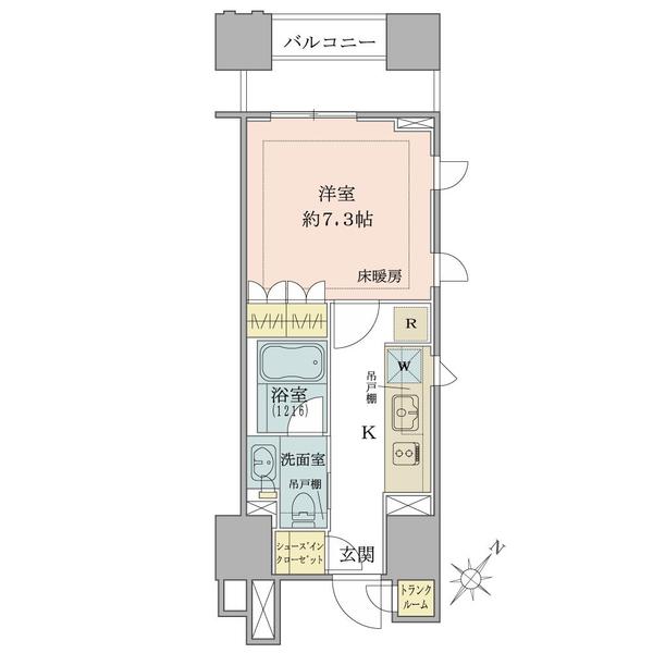 ブリリア銀座idの間取図/5F/4,170万円/1R/29.35 m²