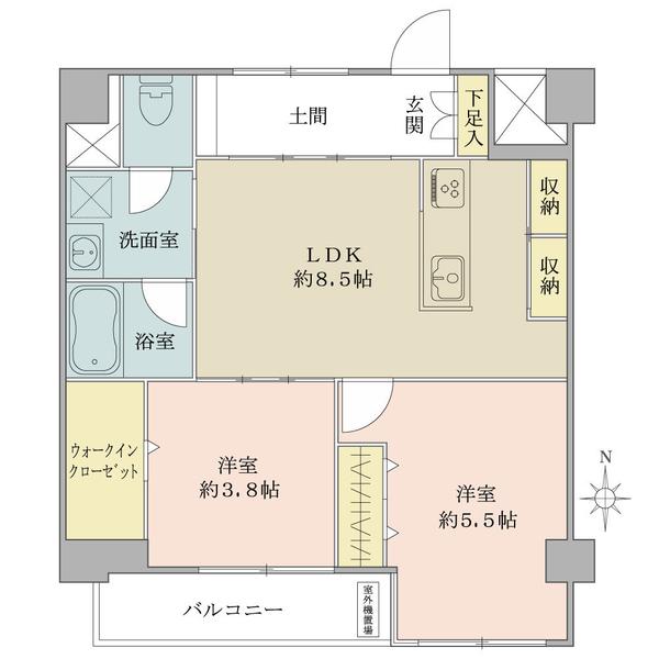 東建島津山南ハイツの間取図/10F/5,660万円/2LDK+WIC/51.04 m²