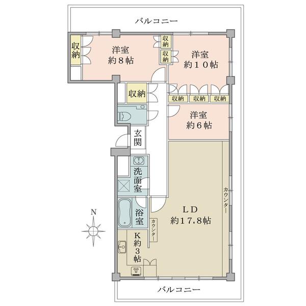 皇居に程近い緑豊かな半蔵門エリアに佇むマンション。7階建ての最上階部分となります。