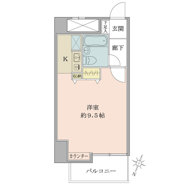 プリ・ヴェール新中野の間取図/11F/1,800万円/1R/27.06 m²