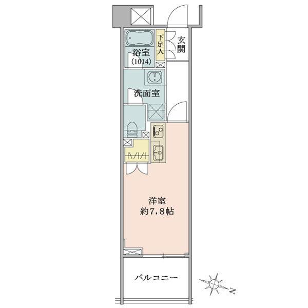 Brillia神楽坂idの間取図/1F/2,900万円/1R/24.84 m²