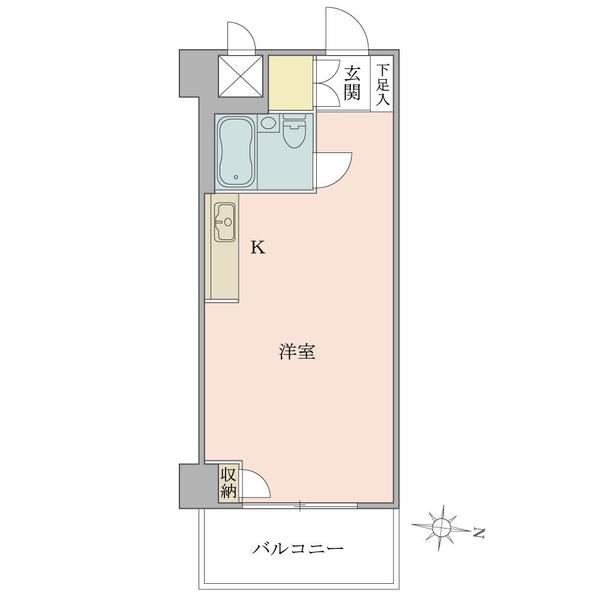 東建ニューハイツ西新宿 の間取図/4F/1,580万円/1R/27.3 m²