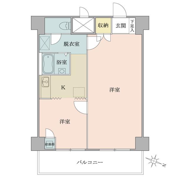 東建ニューハイツ西新宿 の間取図/2F/3,240万円/2K/48.36 m²
