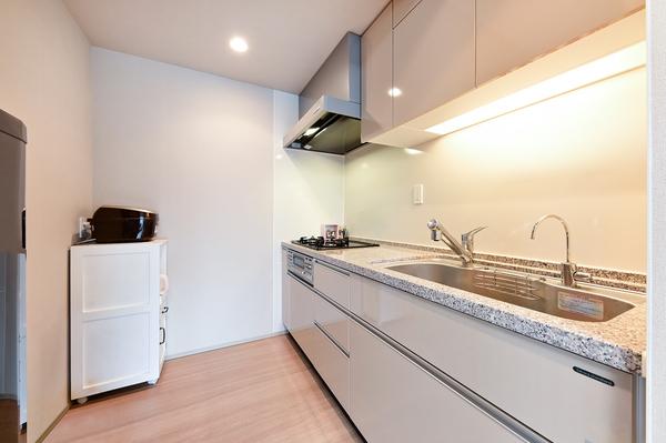 【キッチン】熱や湿気に強く汚れがしみこまない、高品位ホーローパネルを使用