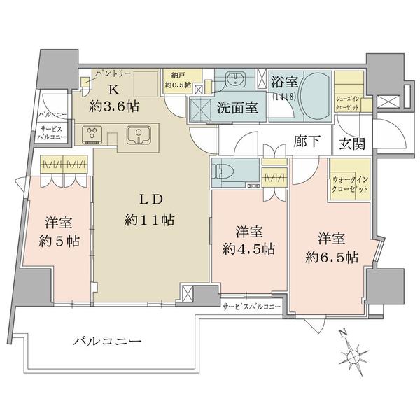 ブリリア早稲田 Brilla早稲田の間取図/10F/9,880万円/3LDK+Wic+Sic/71.01 m²