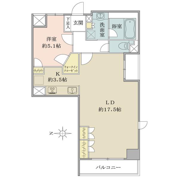 シエン・コンドミニオの間取図/2F/6,580万円/2LDK/60.97 m²