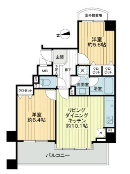 シティハイツ馬込の間取図/2F/4,180万円/2LDK/52.17 m²