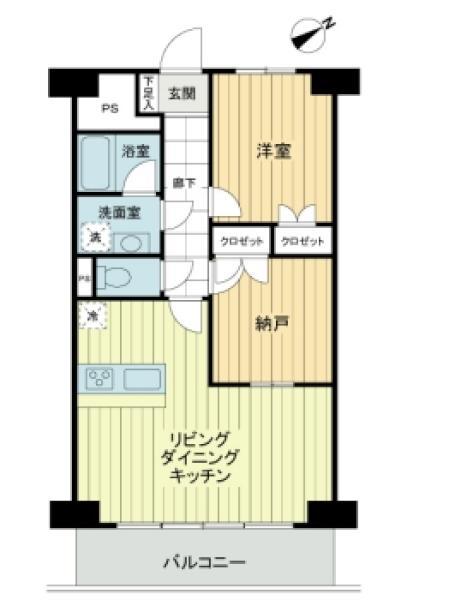 上町マンシヨンの間取図/9F/2,980万円/1SLDK/50.76 m²