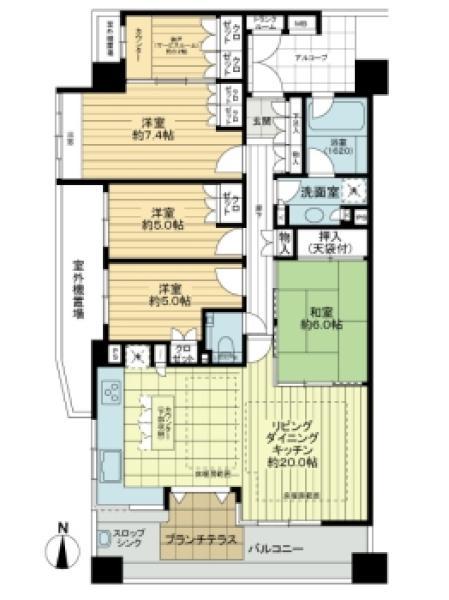 ネクサスシティディーセントテラスの間取図/3F/4,480万円/4SLDK/102.53 m²