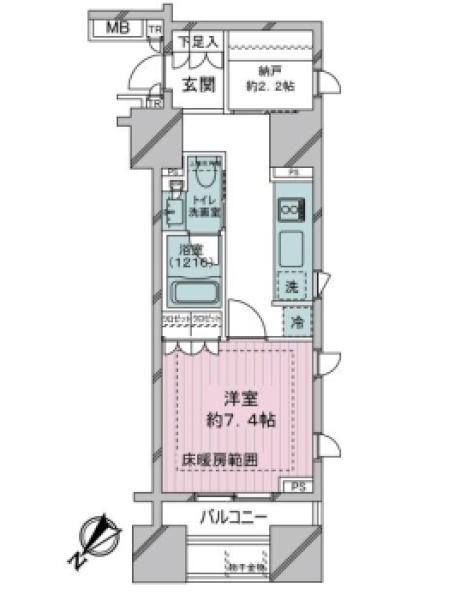 ブリリア銀座idの間取図/3F/4,780万円/1K/36.22 m²