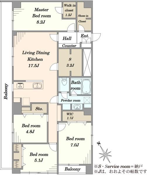 東建ニューハイツ市川の間取図/3F/2,999万円/4SLDK/102.87 m²