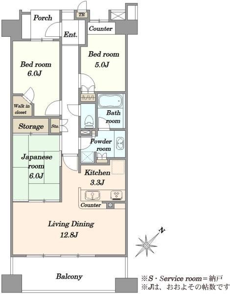 エムステージ・ウエスティアの間取図/2F/4,880万円/3LDK/76.75 m²