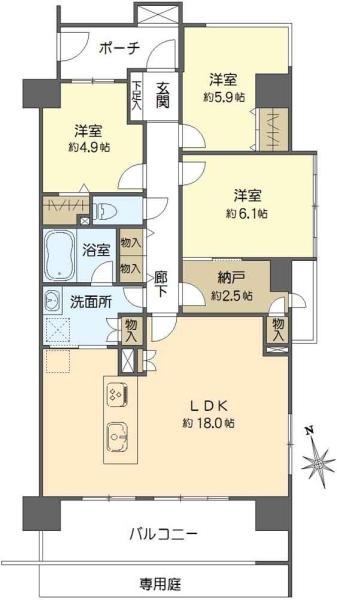 プランヴェール西台の間取図/1F/4,390万円/3LDK/81.47 m²
