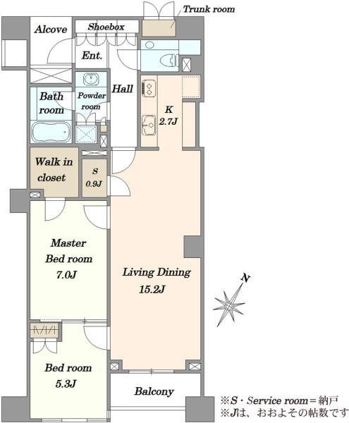 ブリリア代官山プレステージの間取図/3F/12,900万円/2SLDK/73.05 m²