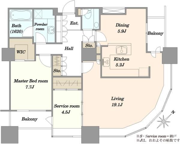 東京ツインパークスライトウイングの間取図/36F/20,500万円/1SLDK/100.37 m²