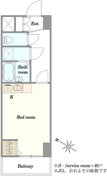 東建ニューハイツ西新宿の間取図/4F/1,980万円/1R/21.06 m²