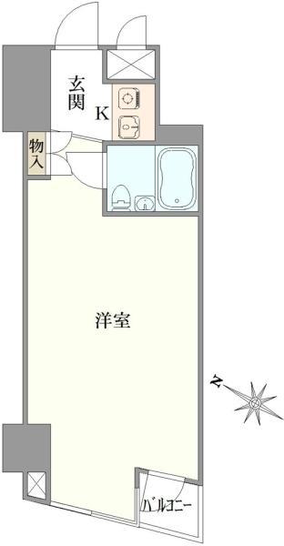 東建シティハイツ池袋の間取図/6F/1,550万円/1R/22.71 m²