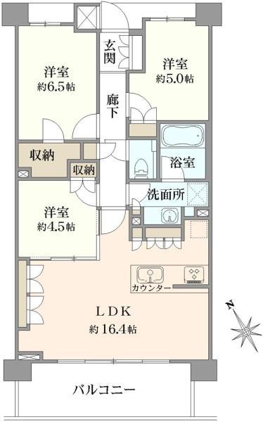 クレヴィア蘆花公園の間取図/2F/5,280万円/3LDK/71.91 m²