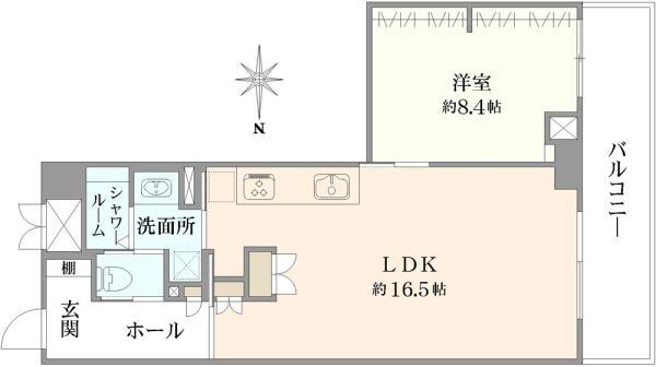 シエン・コンドミニオの間取図/3F/4,380万円/1LDK/55.13 m²
