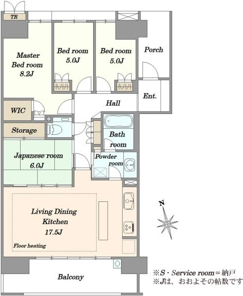 ガーデンアソシエI棟の間取図/4F/5,280万円/4LDK/96.05 m²