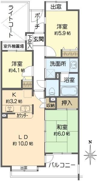グランヴェール世田谷船橋の間取図/2F/4,200万円/3LDK/67.3 m²