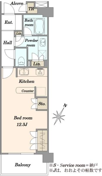 Brillia二子多摩川idの間取図/6F/3,480万円/1K/36.14 m²