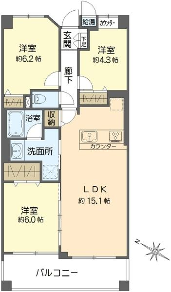 東急ドエル・横浜ヒルサイドガーデン弐番館