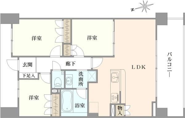 Brillia成増シーズンテラスの間取図/3F/5,980万円/3LDK/70.5 m²
