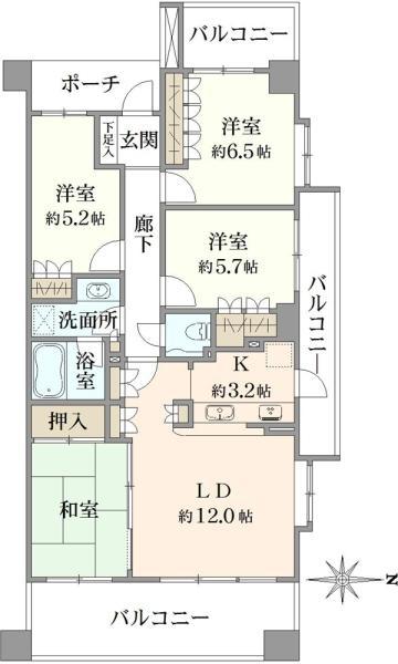 グランステージ南浦和の間取図/2F/3,280万円/4LDK/86.23 m²