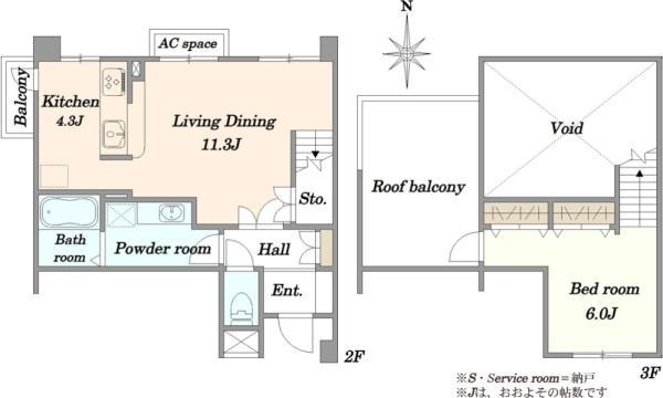 アールヴェール世田谷一丁目 の間取図/2F/4,180万円/1LDK/59.49 m²