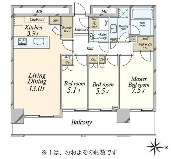 SKYZ TOWERGARDEN  スカイズ タワーガーデンの間取図/4F/7,480万円/3LDK/82.28 m²