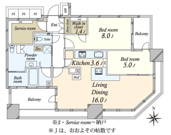 SKYZ TOWERGARDEN  スカイズ タワーガーデンの間取図/13F/9,380万円/2SLDK/84.94 m²