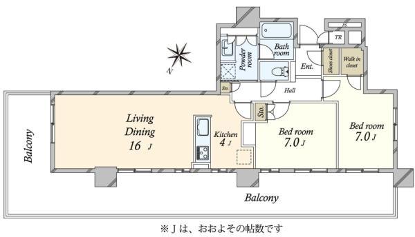 Brillia有明City Tower ブリリア有明シティタワーの間取図/31F/9,800万円/2LDK/75.91 m²