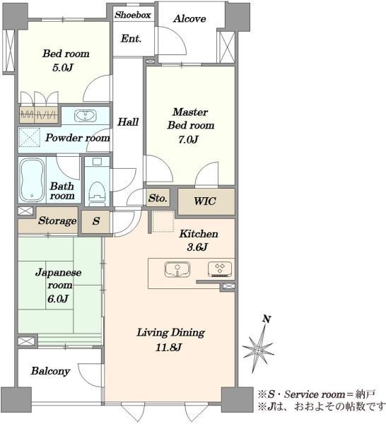 ブリリア外苑出羽坂の間取図/3F/9,180万円/3LDK/76.39 m²